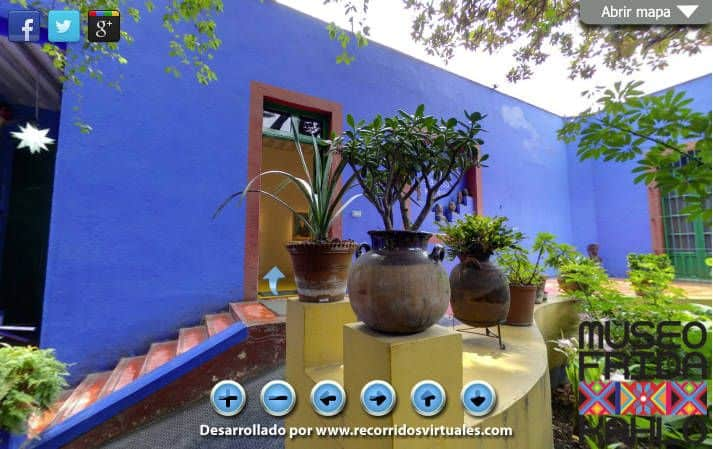 Recorrido virtual casa de Frida Kahlo
